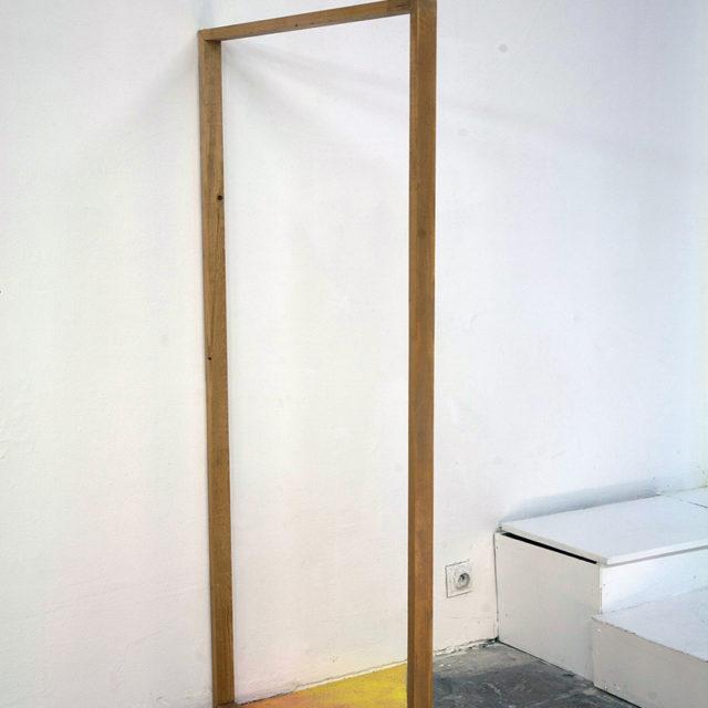 Wooden frame + chalk / Mohammed Alani / 2015
